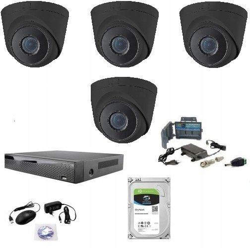 Zestaw 4 kamery z rejestratorem i dyskiem