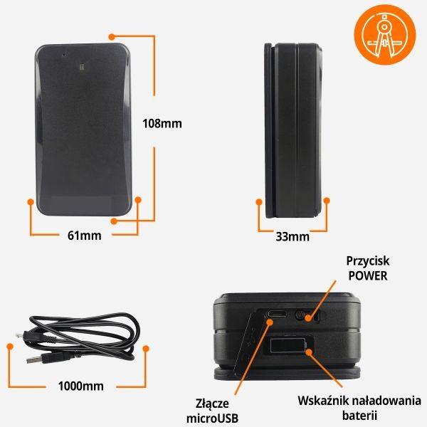 Lokalizator GPS na magnes 10000mAh bateria podsłuch
