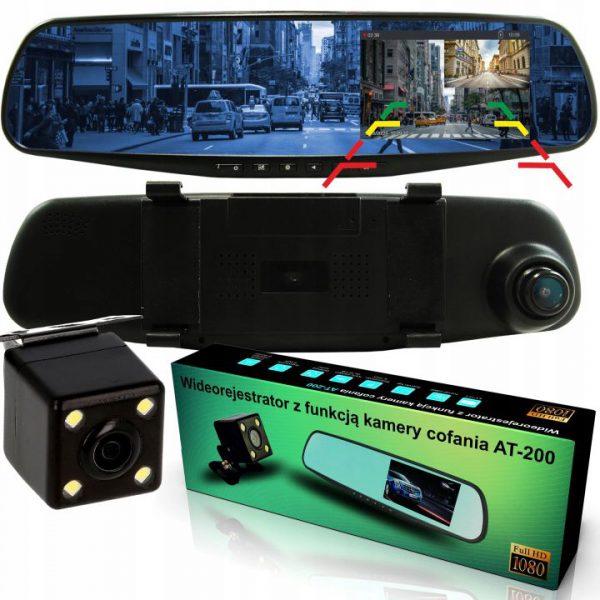 Wideorejestrator z funkcją kamery cofania AT-200