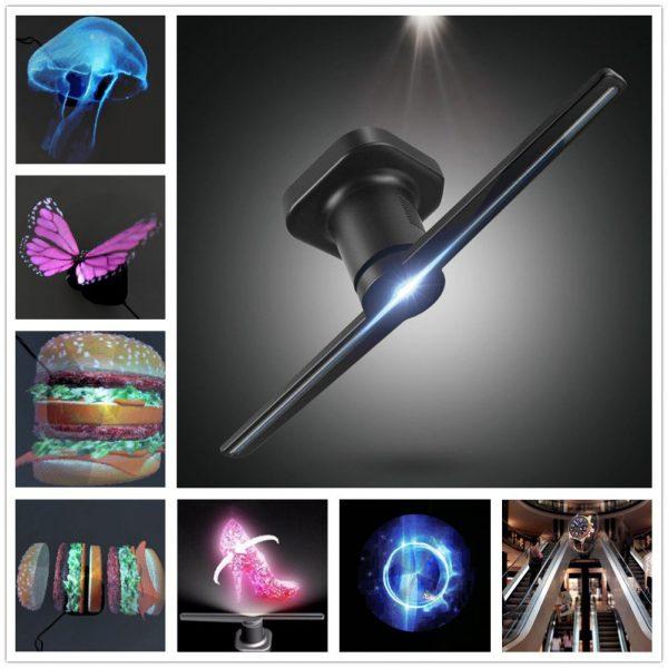 Przykładowe animacje hologramu