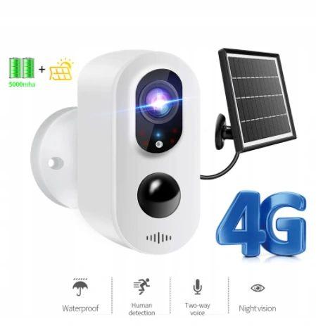 Kamera LTE 4G bezprzewodowa na baterie 3Mpx internet z SIM + PANEL