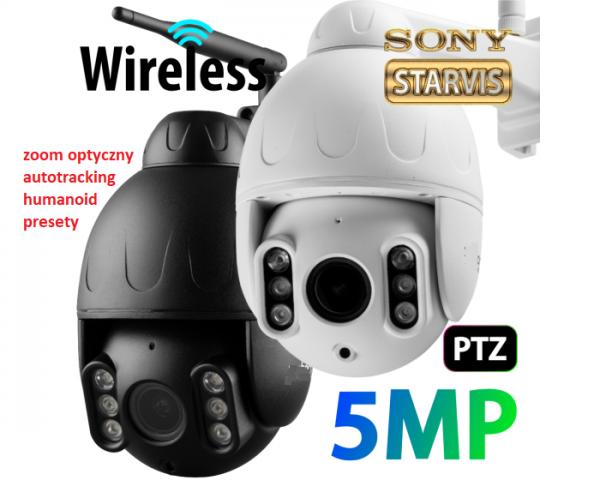 obrotowa, 5mpx, zoom optyczny, autotracking,humanoid,presety, autosledzenie celu,wifi
