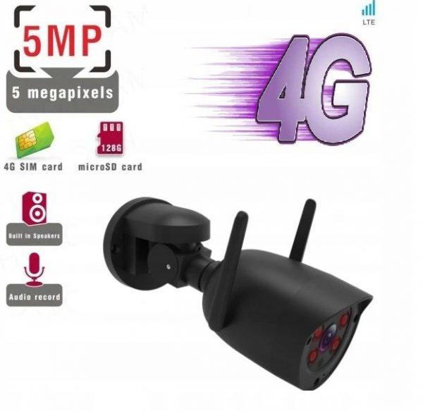 Kamera Obrotowa GSM 4G SIM LTE 5MPx SONY Auto Tracking tuba czarna