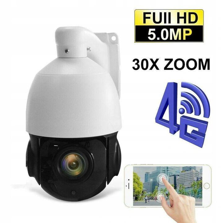 Kamera 5Mpx SIM GSM 4G LTE WIFI solarna z panelem x30 zoom optyczny