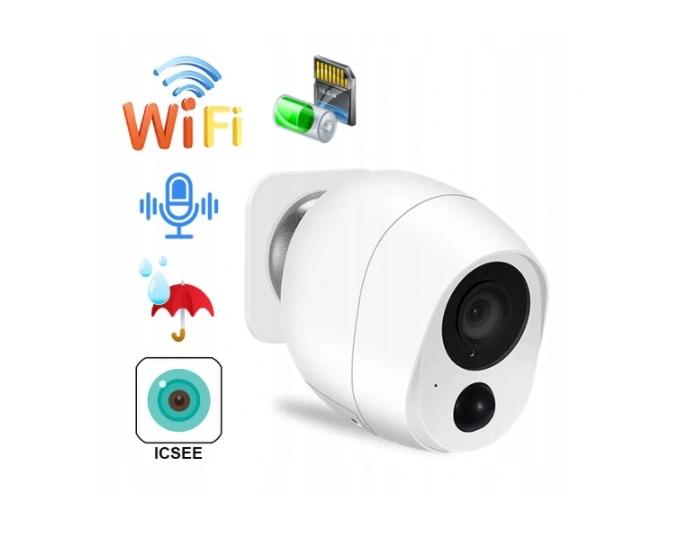 Zewnętrzna kamera na zewnątrz bezprzewodowa WIFI na baterie akumulatory magnes FullHD