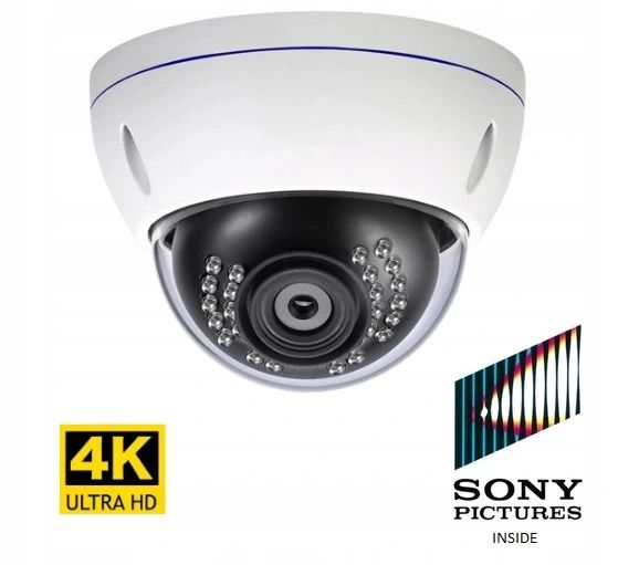 Kamera 8MP 4K IP zewnętrzna kamera H.265 Onvif PoE kopułka