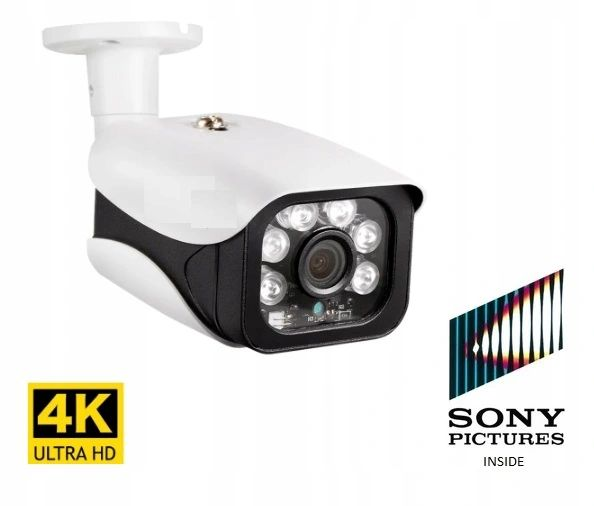 Kamera 8MP 4K IP zewnętrzna kamera H.265 Onvif PoE