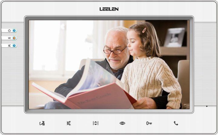 Wideodomofon LEELEN V34 JB305 7cali natynkowy srebrny