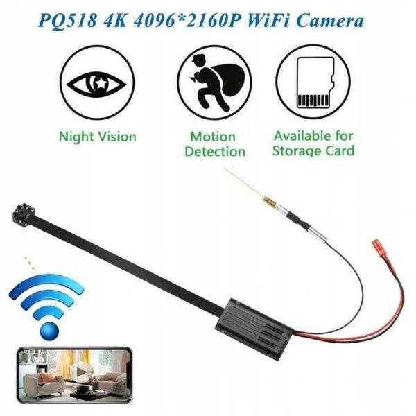 Ukryta MINI kamera szpiegowska WiFi dzień/noc IR FullHD 2Mpx